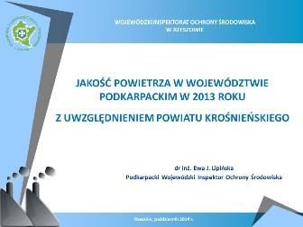 jakosc_powietrza_ 2013_powiat_krosnienski