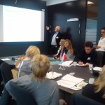 Fot.2. Przedstawiciel strony norweskiej podczas wygłaszania prezentacji (fot.: E. J. Lipińska)