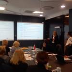 Fot.3. Przedstawiciel strony norweskiej podczas wygłaszania prezentacji (fot.: E. J. Lipińska)