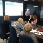 Fot.4. Przedstawiciel strony norweskiej podczas wygłaszania prezentacji (fot.: E. J. Lipińska)