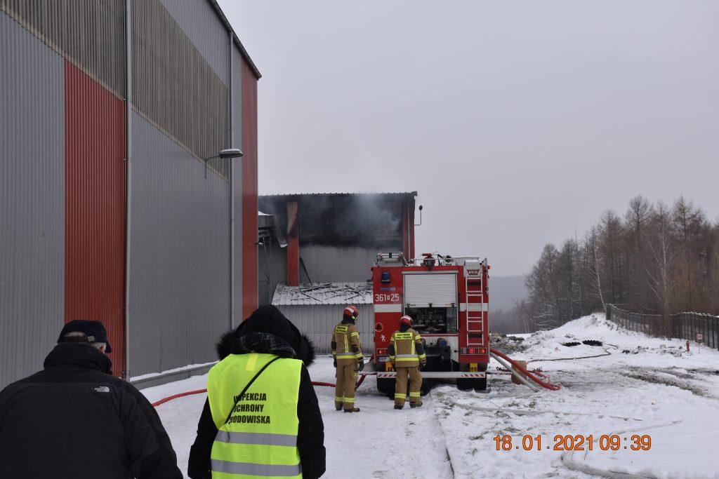 Pożar wZakładzie Mechaniczno-Biologicznego Przetwarzania Odpadów wPrzemyślu – działania służb